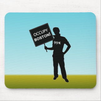 Occupy Boston Sign Mouse Pad