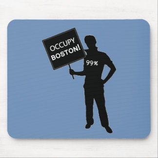 Occupy Boston Sign Mouse Pads