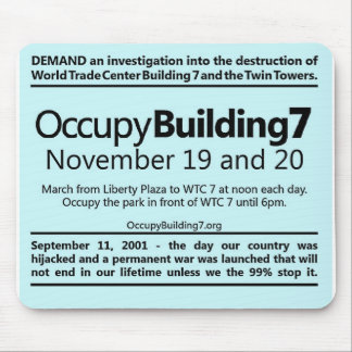 Occupy Building 7 World Trade Center Protest Flyer Mouse Pad