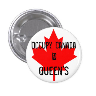 Occupy Canada @ Queen's - Queen's University 3 Cm Round Badge