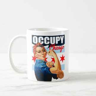 Occupy Chicago Rosie the Riveter Coffee Mug