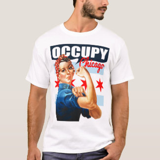 Occupy Chicago Rosie the Riveter t shirt