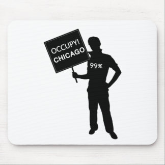 Occupy Chicago Sign Mouse Pads