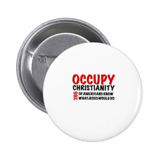 Occupy Christianity:  What Would Jesus Do? Pinback Buttons