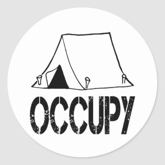 Occupy Classic Round Sticker