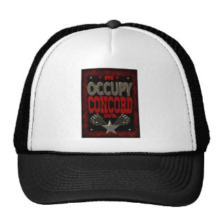 Occupy Concord OWS protest 99 strong poster Trucker Hats
