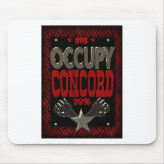 Occupy Concord OWS protest 99 strong poster Mouse Pads