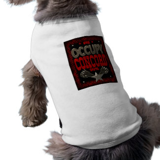 Occupy Concord OWS protest 99 strong poster Sleeveless Dog Shirt