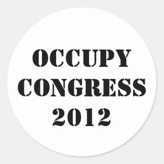 Occupy Congress  2012 Round Sticker