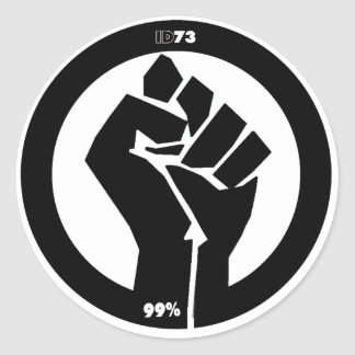 #Occupy Fist Classic Round Sticker