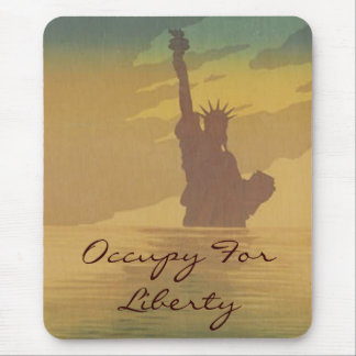 occupy for liberty mouse pad