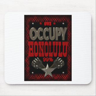 Occupy Honolulu OWS protest 99 percent strong Mousepad