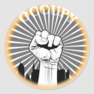 Occupy is a state of mind classic round sticker