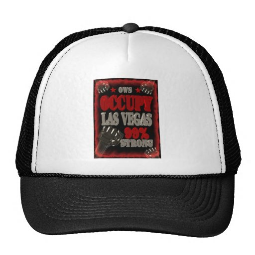 Occupy Las Vegas OWS protest 99 percent strong Trucker Hat