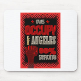 Occupy Los Angeles OWS protest 99 percent strong Mousepad