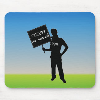 Occupy Los Angeles Sign Mousepads