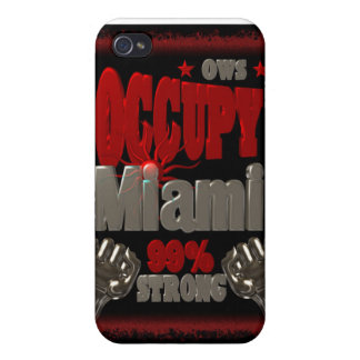 Occupy Miami OWS protest 99 percent strong poster iPhone 4/4S Cases