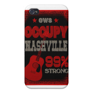 Occupy Nashville OWS protest 99 strong poster iPhone 4/4S Covers