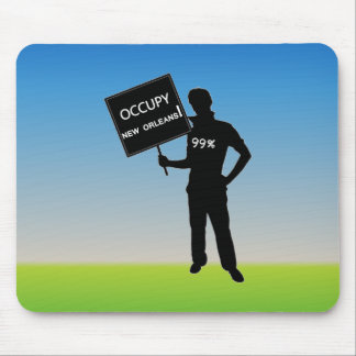 Occupy New Orleans Sign Mousepads