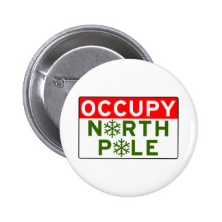 Occupy North Pole Pinback Buttons