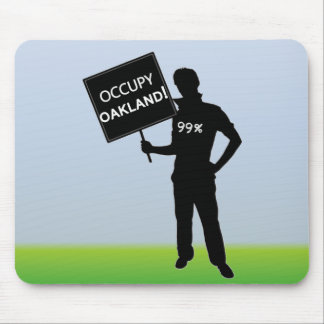 Occupy Oakland Sign Mouse Pad