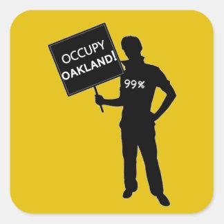 Occupy Oakland Sign Square Sticker