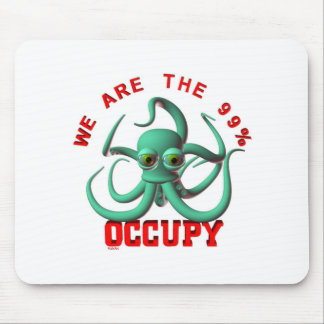 Occupy Octopus Mouse Pad