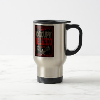 Occupy  Orlando OWS protest 99 strong poster Stainless Steel Travel Mug