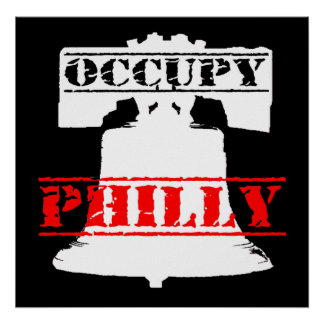 Occupy Philly Liberty Bell T-shirt Poster