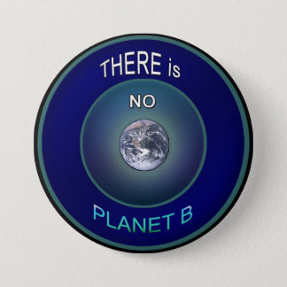 "Occupy Planet Earth ""There is NO Planet B"" Button"