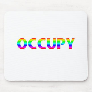 Occupy Rainbow Mouse Pad