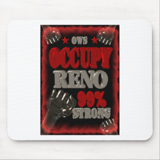 Occupy Reno OWS protest 99 percent strong poster Mousepad