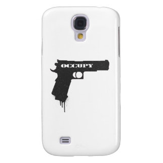 Occupy Rubber Bullet Gun Black Galaxy S4 Covers