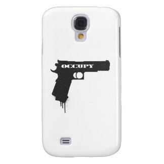 Occupy Rubber Bullet Gun Black Galaxy S4 Case