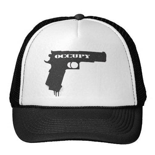 Occupy Rubber Bullet Gun Black Hat