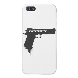 Occupy Rubber Bullet Gun Black iPhone 5/5S Cover