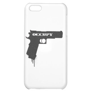 Occupy Rubber Bullet Gun Black Case For iPhone 5C