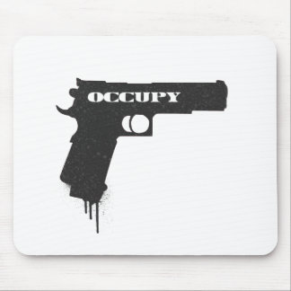 Occupy Rubber Bullet Gun Black Mouse Pad