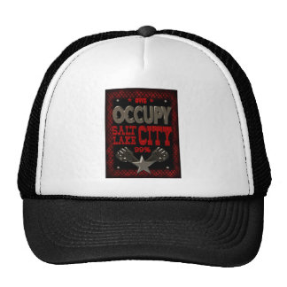 Occupy Salt Lake OWS protest 99 percent strong Hats