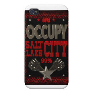 Occupy Salt Lake OWS protest 99 percent strong Covers For iPhone 4