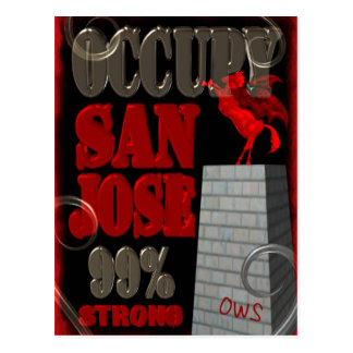 Occupy San Jose OWS protest 99 percent strong Postcard