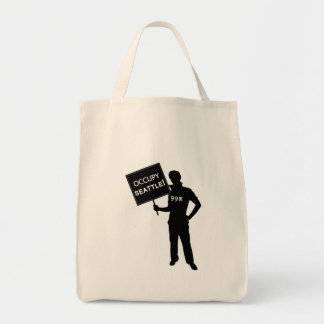 Occupy Seattle Sign Canvas Bag