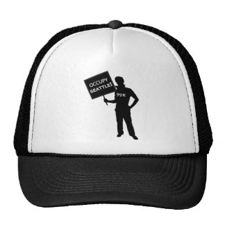 Occupy Seattle Sign Mesh Hat