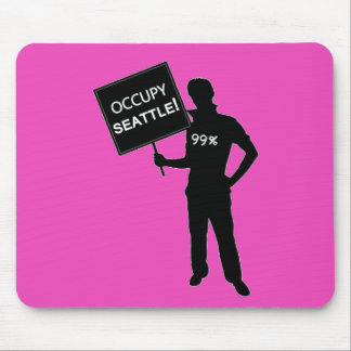 Occupy Seattle Sign Mouse Pad
