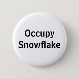 Occupy Snowflake 6 Cm Round Badge
