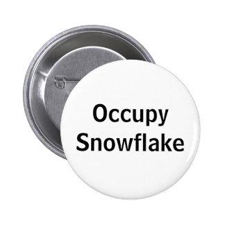 Occupy Snowflake 6 Cm Round Badge