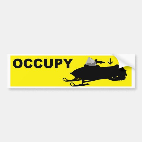 occupy snowmobile bumper sticker