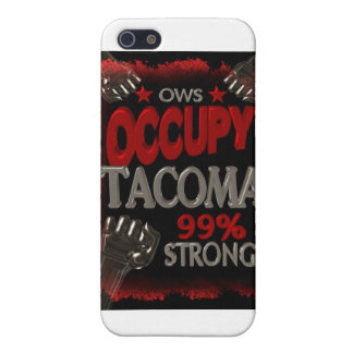 Occupy Tacoma OWS protest 99 percent strong iPhone 5 Cover