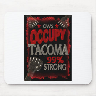 Occupy Tacoma OWS protest 99 percent strong Mousepad