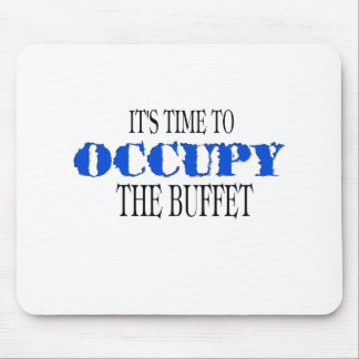 Occupy the Buffet the blue wave Mouse Pad